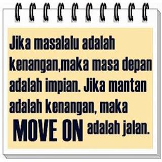 Gamabar dan kata-kata ayo move on buat dp bbm