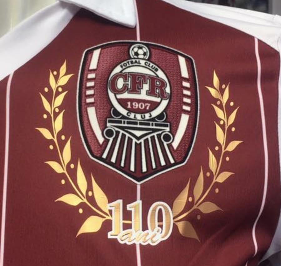 Emblema aniversară CFR Cluj 110