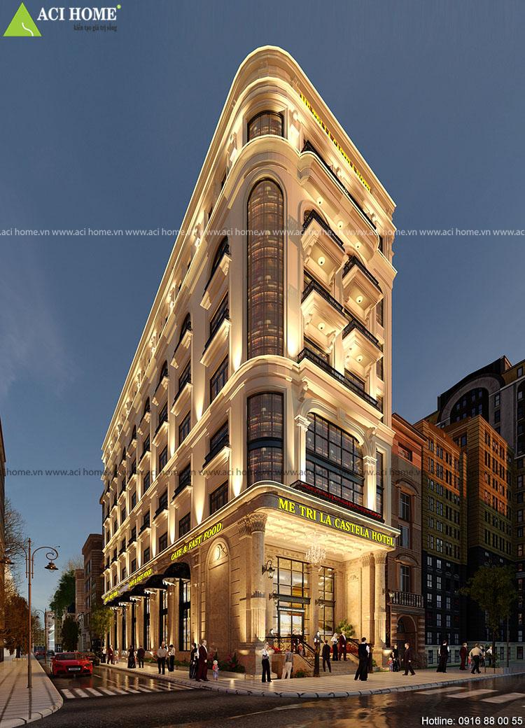 Thiết kế khách sạn 3 sao kiểu Pháp