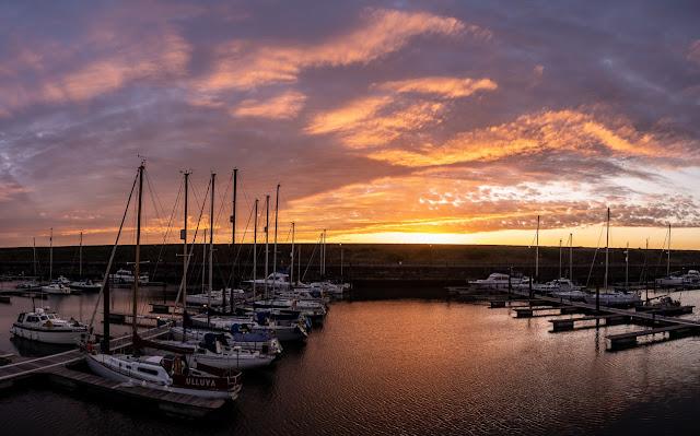 Photo of sunset over Mayport Marina