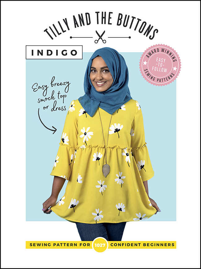 Indigo smock sewing pattern - Tilly and the Buttons