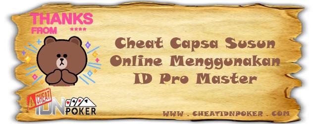 Cheat Capsa Susun Online Menggunakan ID Pro Master