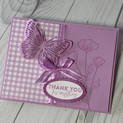 Butterfly handmade greeting card using the Flowers of Friendship Stamp Set from Stampin' Up!