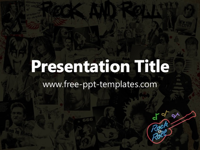 Rock And Roll Ppt Template