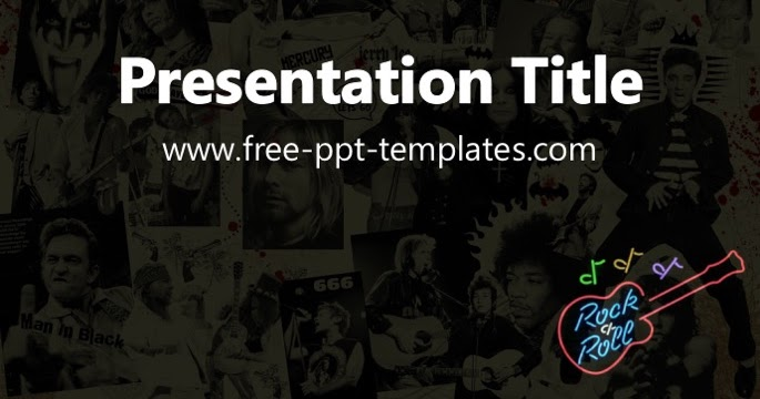 Rock and roll ppt template toneelgroepblik Image collections