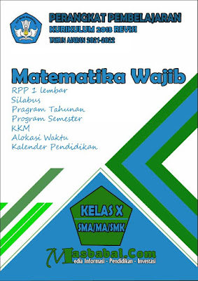 Perangkat Pembelajaran Matematika Wajib Kurikulum 2013 Revisi Terbaru