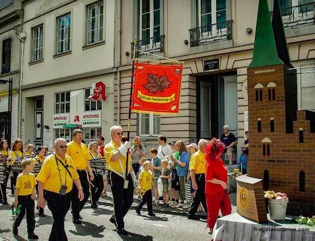 Desfile histórico em Lübeck, Alemanha