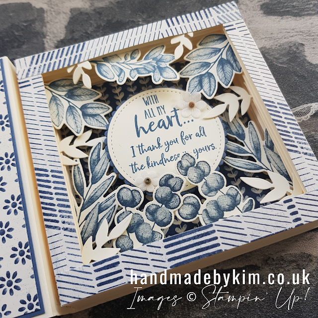 Forever Fern Boho Indigo Shadow Box Book Card
