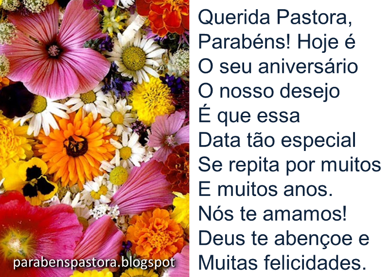 Mensagem De Aniversário Para Pastora Evangélica