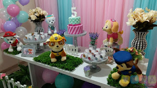 Decoração festa infantil Skye e Everest
