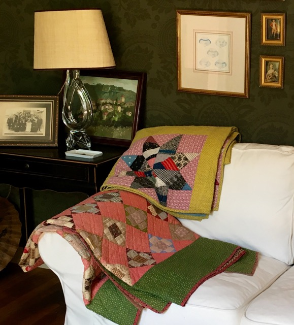 Two antique quilts