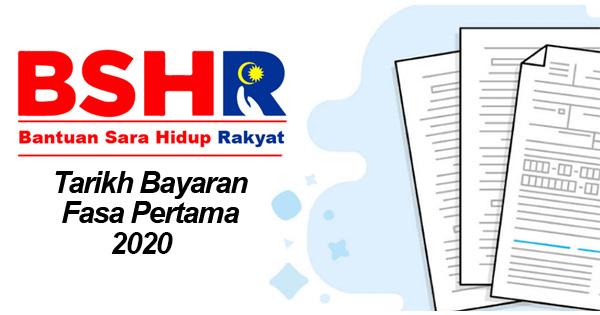 Bayaran Fasa Pertama BSH Bermula 20 Januari 2020