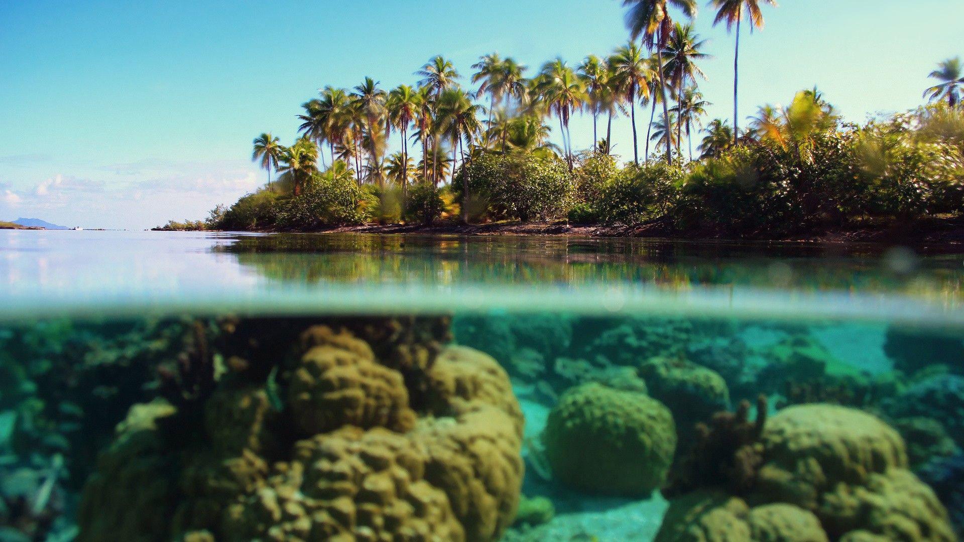 Paisagem Mar Praia E C 233 U Azul Papel De Parede Gr 225 Tis