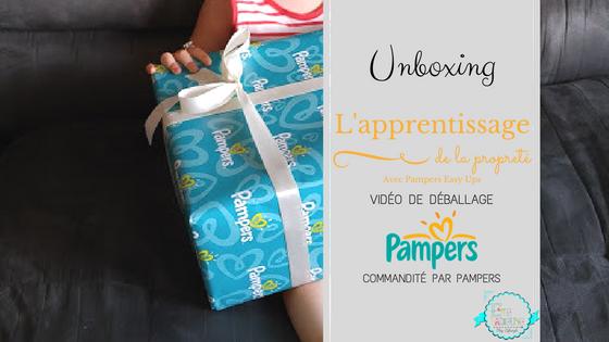 Unboxing: L'apprentissage de la propreté avec #PampersEasyUps