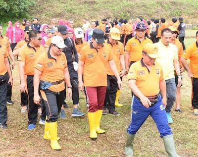 Polda Jambi Laksanakan Penghijauan Dan Melestarikan Lingkungan di SPN