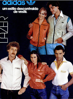 propaganda roupas Adidas - 1977.  moda anos 70; propaganda anos 70; história da década de 70; reclames anos 70; brazil in the 70s; Oswaldo Hernandez