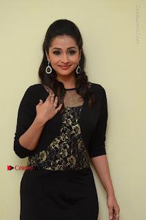 Telugu Actress Manasa Manohar Stills in Black Long Dress at Naku Nene Thopu Turumu Trailer Launch  0018.JPG