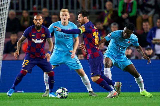 Video Barcelona 0-0 Slavia Prague: Messi khuấy đảo, vận may khó ngờ