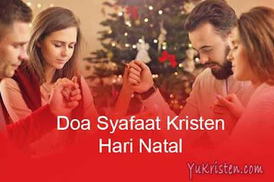 contoh doa syafaat kristen hari natal