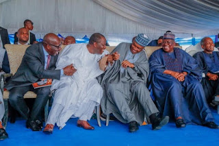 Osinbajo, Obasanjo, Jonathan at funeral of Udom Emmanuel's father