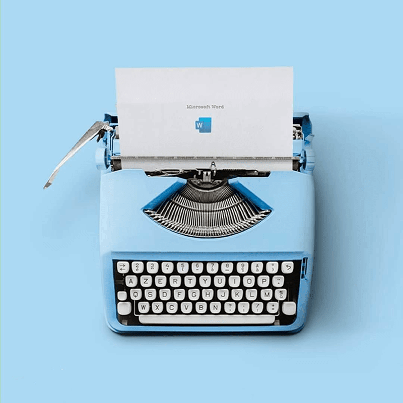 A typewriter for the Microsoft Word