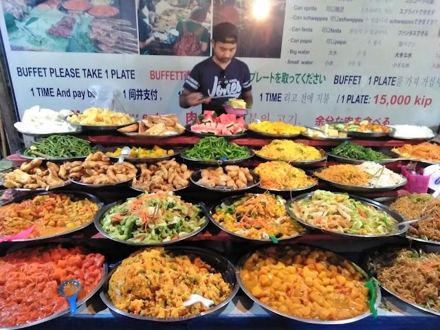 street food buffet luang prabang laos