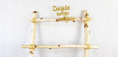 brzozowa drabinka na plan stołów wypożyczalnia dekoracji rzeszów ślubnażyczenie