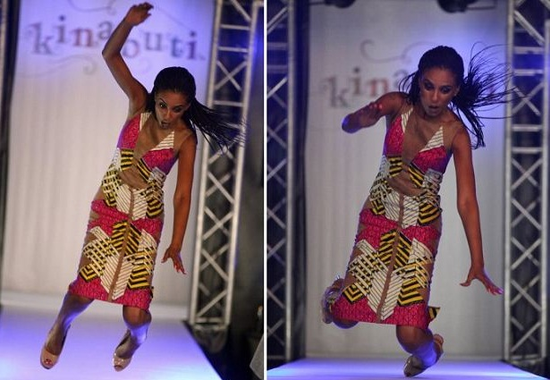 nigean model tumbles in lagos