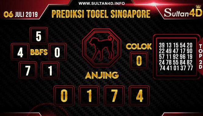 PREDIKSI TOGEL SINGAPORE SULTAN4D 06 JULI 2019