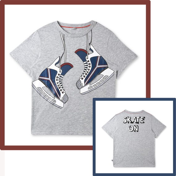 camiseta para niños, patines skate on by Stella McCartney