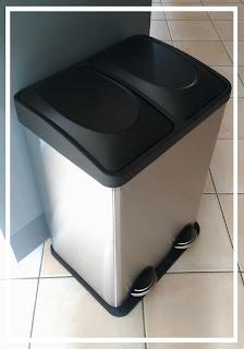 poubelle double avec bac de tri