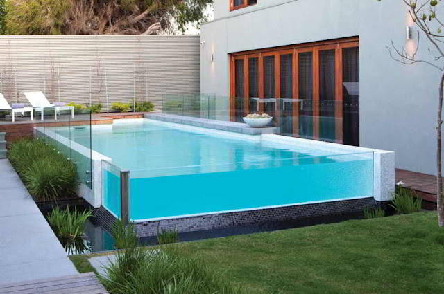 Immerse yourself in a transparent pool