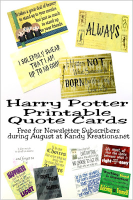 Your kids would love to go back to school if they were going to Hogwarts. Send them back with these printable Harry Potter quote cards that are perfect for lunchbox notes, journal cards, scrapbooking, or just to let your kids know you are thinking of them.