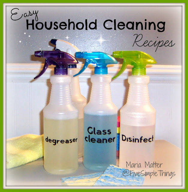 Easy Household Cleaning Recipes