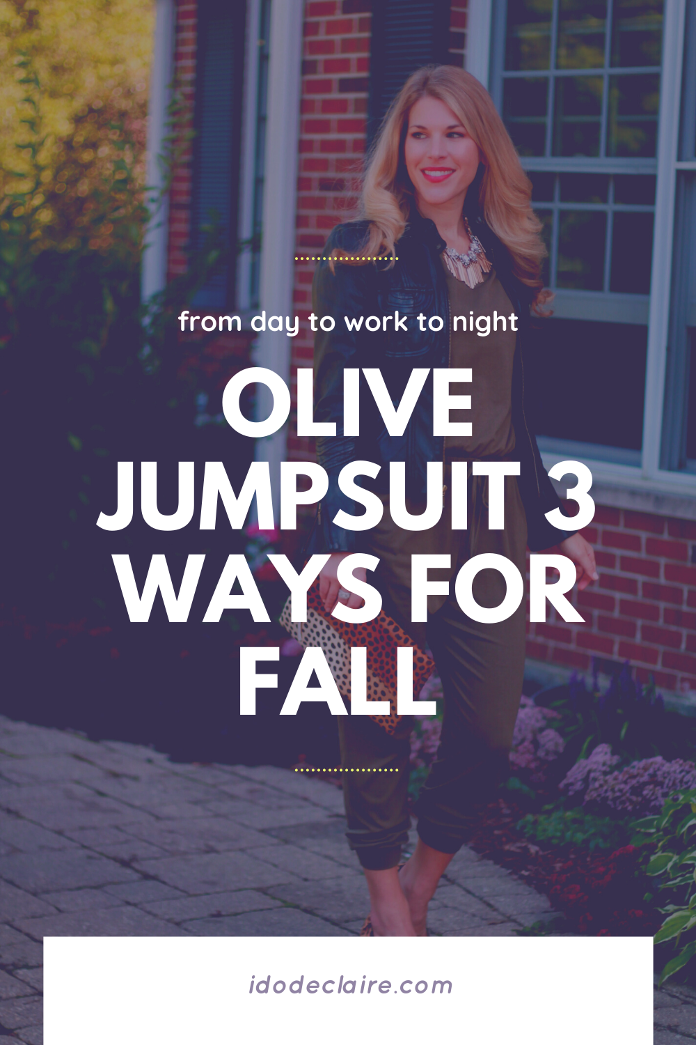 Olive Jumpsuit 3 Ways for Fall