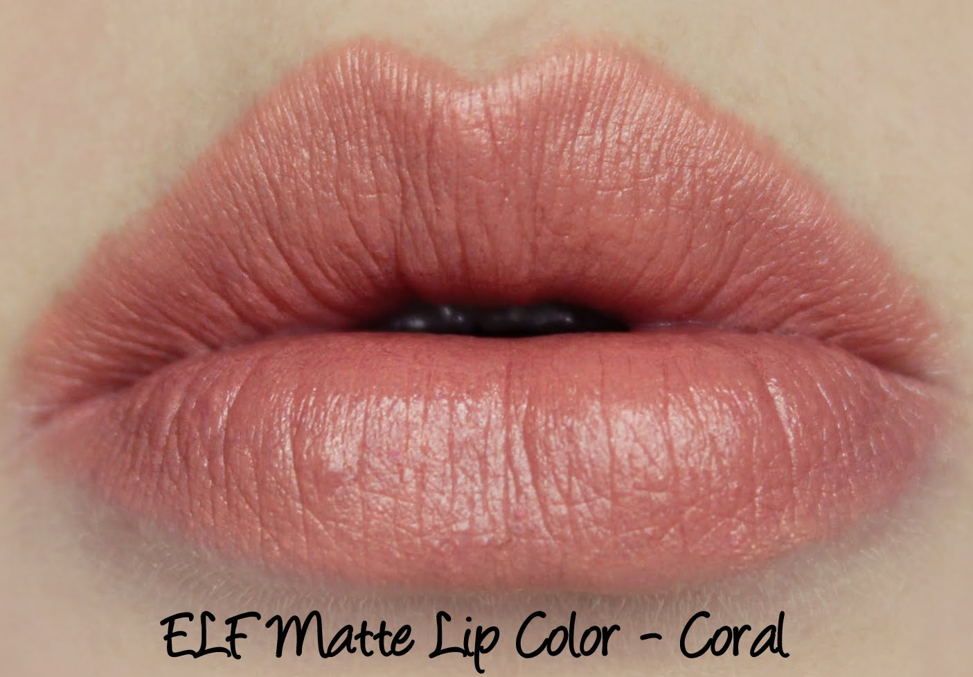 ELF Matte Lip Color - Coral Swatches & Review