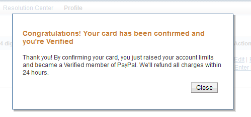 paypal get verified