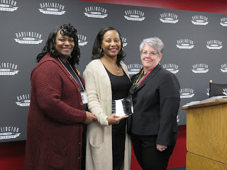 Acting HCP Director Paula Jones and SC AHEC Executive Director Ann Lefebvre present Dr. Christie with the Gateway Award