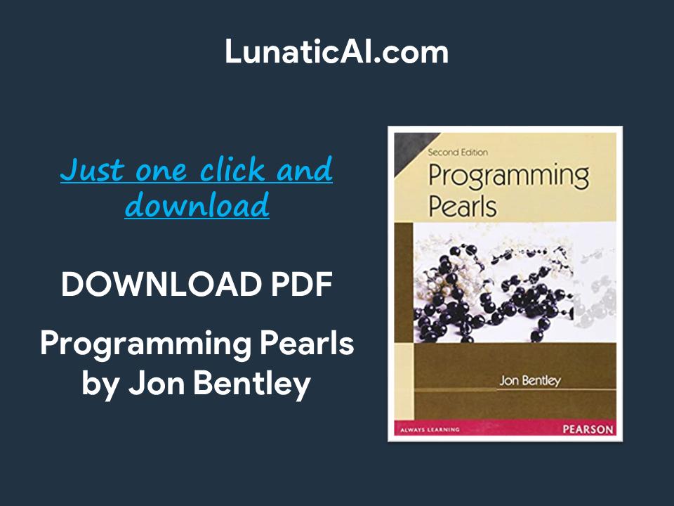 programming pearls pdf github