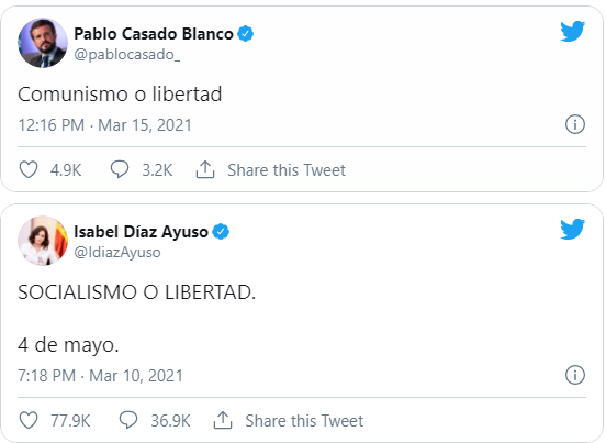"Pablo Casado a la decisión de Iglesias: ""Comunismo o libertad"""