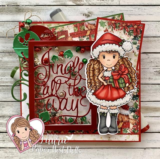 Santa Ellie with Gift