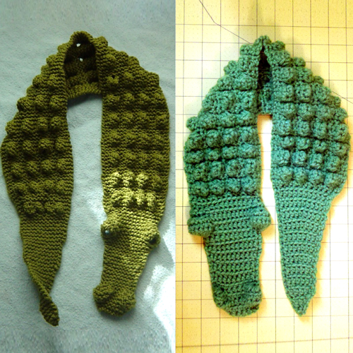 Beautiful Skills Crochet Knitting Quilting Kids Gator Scarf