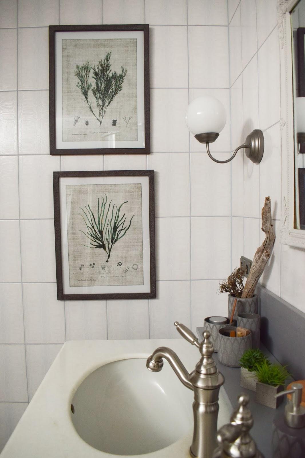 Badezimmer Ideen Deko Bad Renovierung selber machen Dekoideen für ein stilvolles Badezimmer. Einrichten Aufwerten Interior vorher nachher  Wandbilder