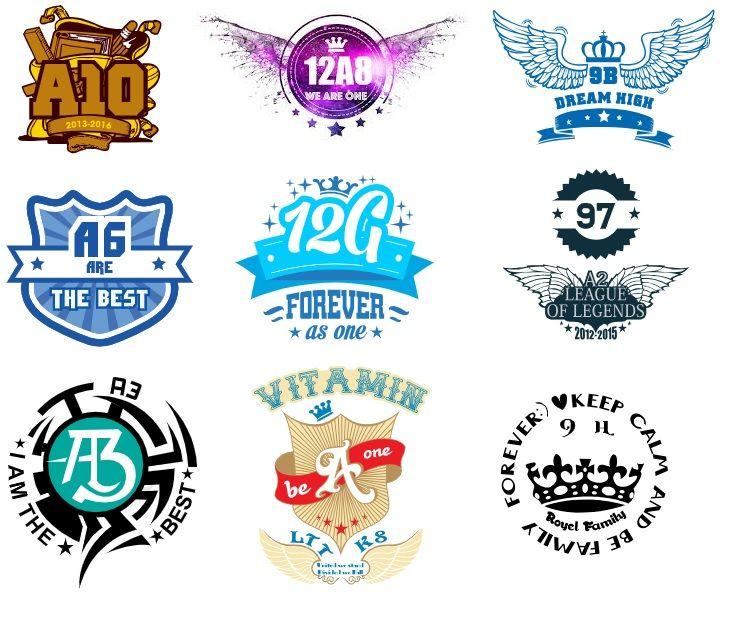 Mẫu logo đẹp in áo nhóm