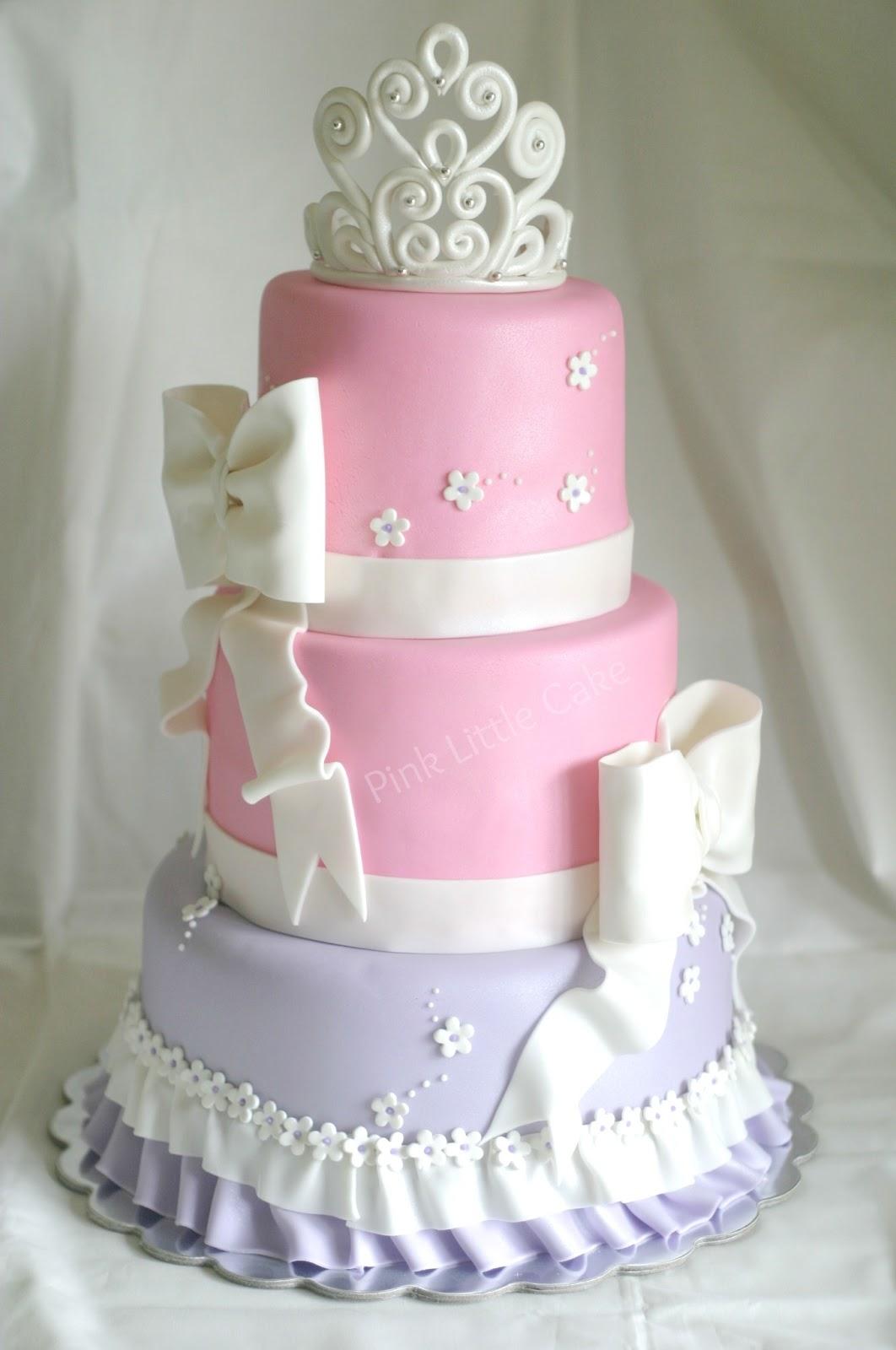 Pink Little Cake Pastel Tiara Baby Shower Cake