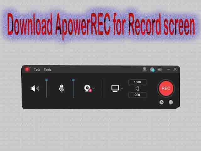 تحميل برنامج ApowerREC لتسجيل الشاشة الكمبيوتر والموبايل 2020