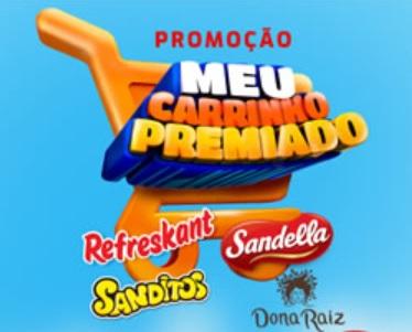 Promoção Meu Carrinho Premiado R Carvalho Sandella, Refreskant e Sanditos