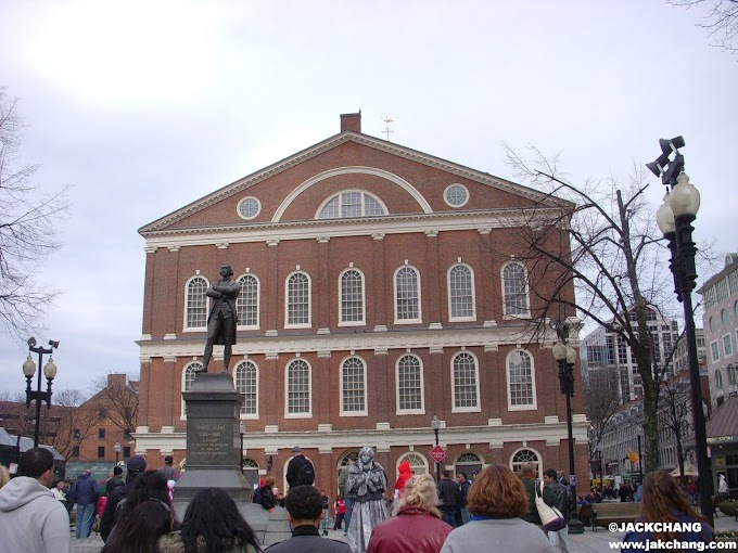 American attractions Faneuil Hall in Boston, one of the stops on the Freedom Trail.