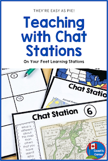 Are you looking for a low-prep, engaging teaching strategy to introduce new skills or concepts to your upper elementary or middle school class?  Try Chat Stations! While visiting each chat station, students respond to a visual image or prompt, discussing their prior knowledge or asking good questions about the station.  Check out this blog post to learn more, and grab your FREE chat station templates while you are there!  {Grade 4,5, 6, 7, 8}