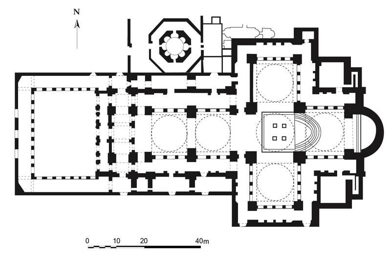 Bisanzio la basilica di s giovanni evangelista a efeso for South cathedral mansions floor plans